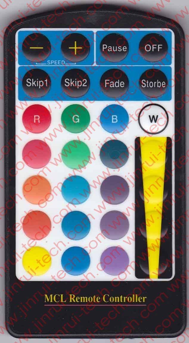 JRM020 28键彩灯遥控器,RGB遥控器,超薄遥控器,全彩遥控器