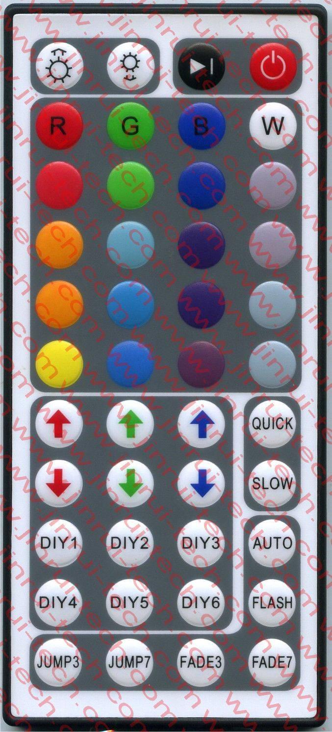 JRM018 44键灯控遥控器、LED遥控器、RGB遥控器、调光遥控器、红外遥控器