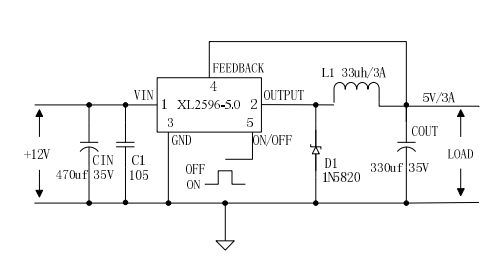 典型应用电路如下图: xl2596有两种封装形式